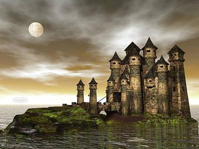 Dracula Digital Art - Castle - 3d Render by Elenarts - Elena Duvernay Digital Art