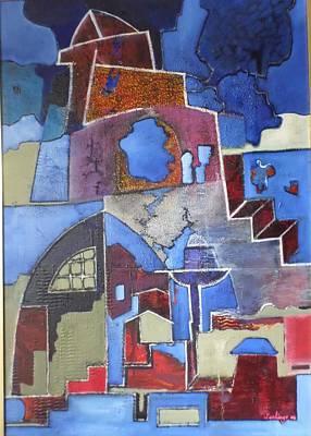 Painting -  Castle by Adalardo Nunciato  Santiago