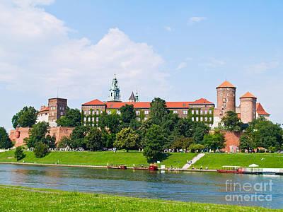 Castle At Wawel Hill In Krakow Art Print