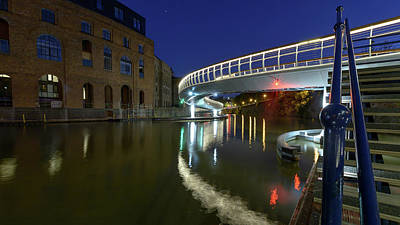 Photograph - Castle Bridge A By Night Bristol England by Jacek Wojnarowski