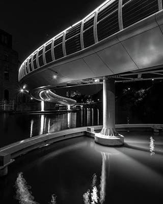 Photograph - Castle Bridge B By Night Bristol England by Jacek Wojnarowski