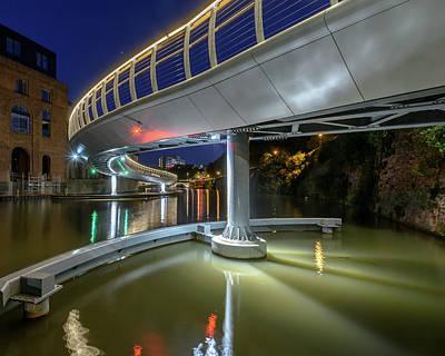 Photograph - Castle Bridge C By Night Bristol England by Jacek Wojnarowski