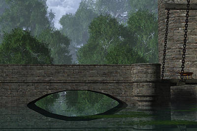 Medieval Entrance Digital Art - Castle Bridge by Mindscape Arts