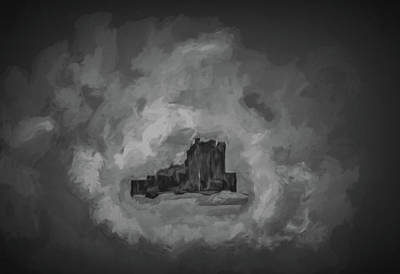 Digital Art - Castle Bw #h1 by Leif Sohlman