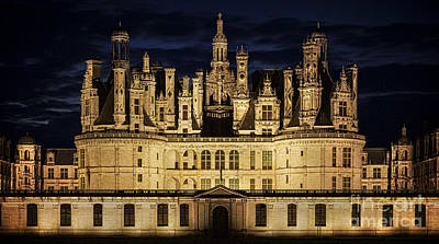 Photograph - Castle Chambord Illuminated by Heiko Koehrer-Wagner
