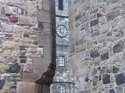 Castle Clock Through Walls Art Print by Margaret Brooks