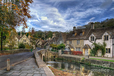 Old House Photograph - Castle Combe England by Ann Garrett