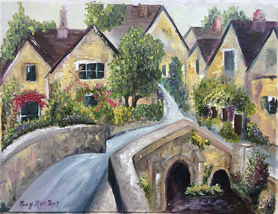 Landscape Painting - Castle Combe by Roxy Rich