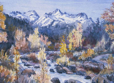 Trout Painting - Castle Creek Autumn by Howard Luke Lucas