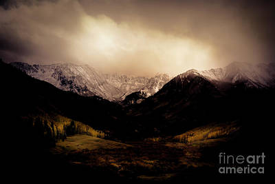 Photograph - Castle Creek Valley Storm by The Forests Edge Photography - Diane Sandoval