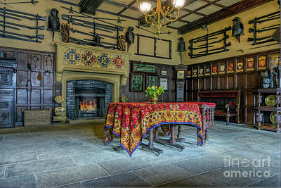 Art Print featuring the photograph Castle Dining Room by Ian Mitchell