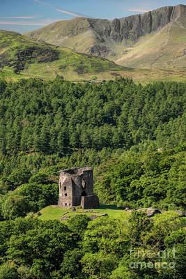 Wales Digital Art - Castle Dolbadarn  by Adrian Evans