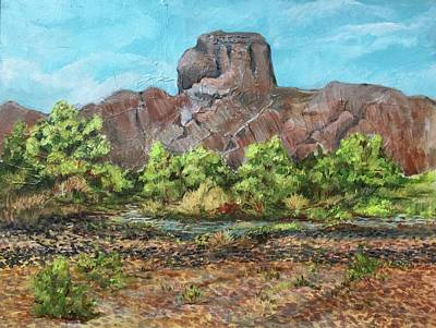 Painting - Castle Dome Flash Flood by Charme Curtin