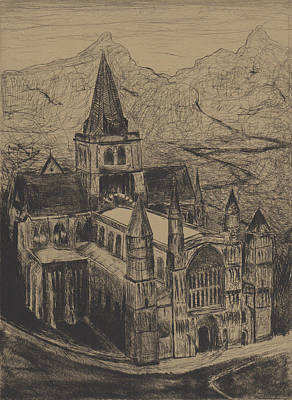 Drawing - Castle by Erik Paul