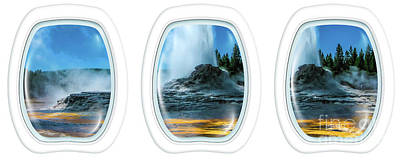 Photograph - Castle Geyser Portholes by Benny Marty