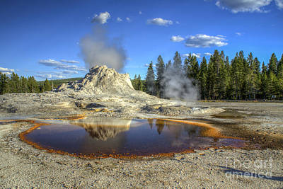 Photograph - Castle Geyser by Scott Wood