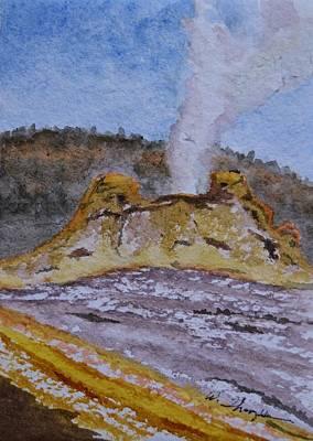 Basin Park Painting - Castle Geyser by Warren Thompson