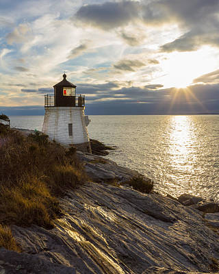 Photograph - Castle Hill Light 2 by Kirkodd Photography Of New England