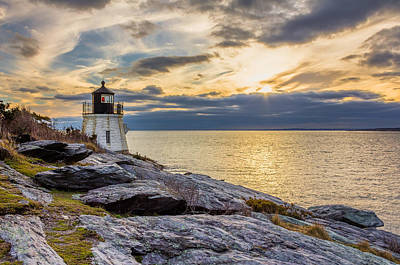 Photograph - Castle Hill Light Hdr by Kirkodd Photography Of New England