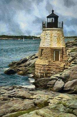 Painting - Castle Hill Lighthouse by Jeff Kolker