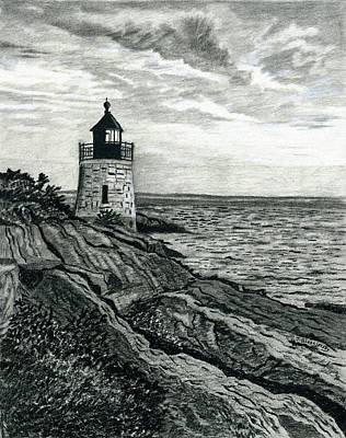 Castle Hill Lighthouse, Newport Rhode Island Art Print