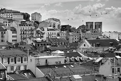 Castle Hill Neighborhood, Lisbon Art Print by Carlos Caetano