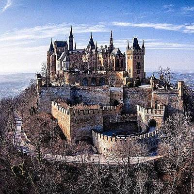 Abstract Skyline Wall Art - Photograph - Castle Hohenzollern  by Andy Bucaille