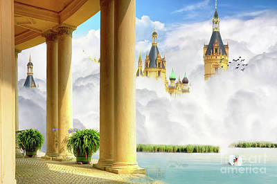 Digital Art - Castle In Clouds by Jan Brons
