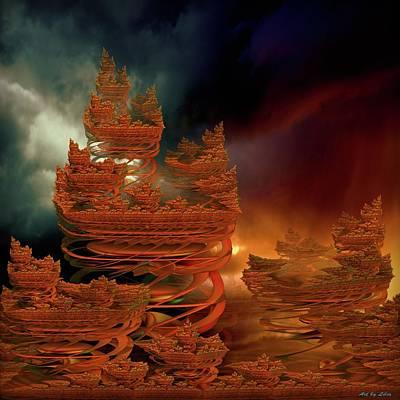 Digital Art - Castle In Dreamland 3 by Lilia D