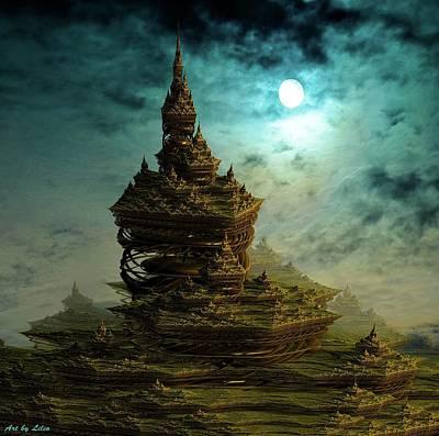 Digital Art - Castle In Dreamland 7 by Lilia D