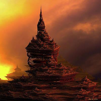 Digital Art - Castle In Dreamland 8 by Lilia D