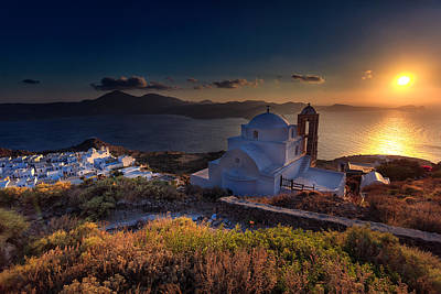 Castle In Milos At Plakas Art Print by Andres Leon