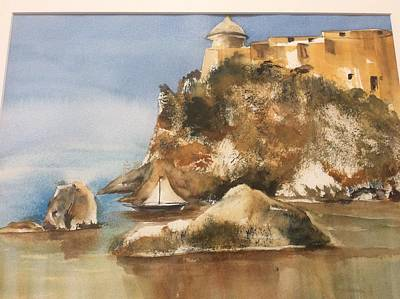Painting - Castle In Sicily by Tom Steiner