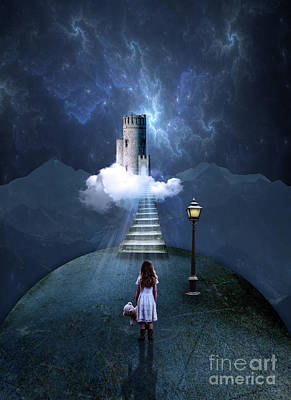 Staircase Photograph - Castle In The Clouds by Juli Scalzi