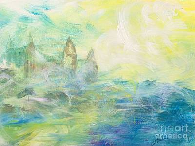 Steele Painting - Castle In The Clouds by Tina Steele Penn