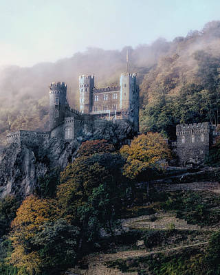 Castle In The Mist Art Print