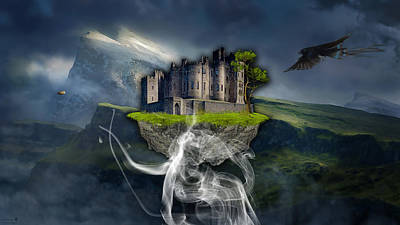 Mixed Media - Castle In The Sky Art by Marvin Blaine