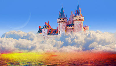 Mixed Media - Castle In The Sky by Charlie Alolkoy