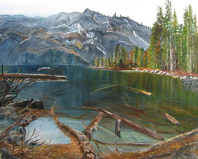 Painting - Castle Lake by LaVonne Hand