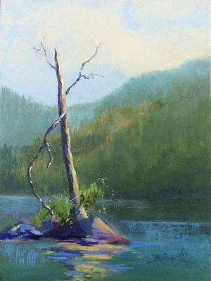 Painting - Castle Lake Snag by Janet Biondi