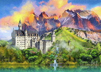Europe Digital Art - Castle Magic by Aimee Stewart