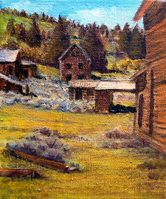 Painting - Castle Montana Ghosttown by Evelyne Boynton Grierson