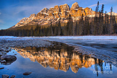 Photograph - Castle Mountain Afternoon Reflections by Adam Jewell