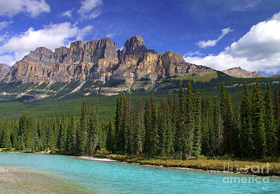 Photograph - Castle Mountain Banff The Canadian Rockies by Rod Jellison