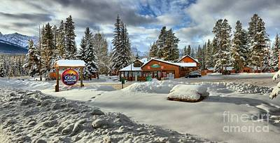 Photograph - Castle Mountain Chalets by Adam Jewell
