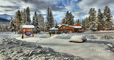 Photograph - Castle Mountain Chalets Panorama by Adam Jewell