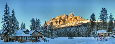 Photograph - Castle Mountain Over The Chalets by Adam Jewell