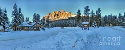 Photograph - Castle Mountain Sunset Panorama by Adam Jewell