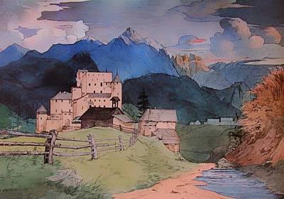 Castle Naudersberg 1825 Art Print