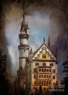 Painting - Castle Neuschwanstein by Andrzej Szczerski